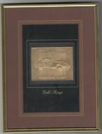 Gouden Postzegel Van Zambia  Met Een Auto Packard Ingelijst - Zambia (1965-...)