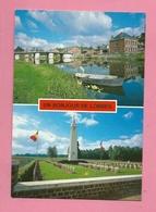 C.P. Lobbes =  Maison  Communale  -  Pont De Sambre  -  Cimetière  Des Français - Lobbes