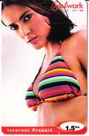 MAURITIUS - Cinema, Hollywood/Salma Hayek, Network Plus Prepaid Crard Rs.50(reverse 1), Used - Mauritius