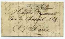 Cachet ESSAI FEVRIER 1828 / MONTAUBAN 115  /   Dept Du Tarn Et Garonne ( Ex Lot)  /  15 Février 1828 / Ind 24 - Postmark Collection (Covers)