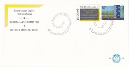 Nederland - FDC - Normaal Amsterdams Peil - Landmeter/peilschaal - NVPH E232 - Milieubescherming & Klimaat