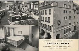 Hotel Restaurant Glocke / Bern (carte Publicitaire Avec Plan) - BE Berne