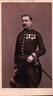 PHOTO  CDV  Militaire Officier Médaillé - Personajes
