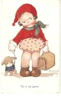"""Beatrice Mallet.Yo Y Mi Perro. Me And My Dog"" Beautiful Tuck Oilette Cute Kidies Ser. PC. # 3607 - Mallet, B."