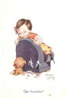 """Beatrice Mallet.Que Buscabas?"" Beautiful Tuck Oilette Cute Kidies Ser. PC. # 3607 - Mallet, B."
