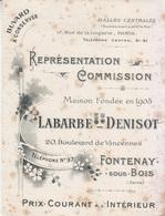 Buvard Ancien Halles Centrales Fontenay S/Bois,Camemberts De Normandie, Chantecler ... Ets Grillard Rauville La Bigot - Blotters