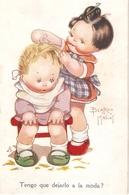 """Beatrice Mallet.Tengo Que Dejarlo A La Moda"" Beautiful Tuck Oilette Cute Kidies Ser. PC. # 3607 - Mallet, B."