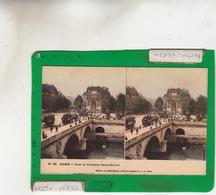 PARIS STEREOSCOPIE PONT ET FONTAINE SAINT MICHEL - Bridges