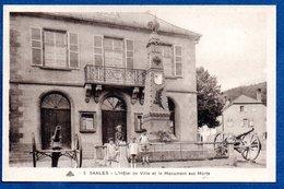 Saales / L'Hôtel De Ville Et Le Monument Aux Morts - France