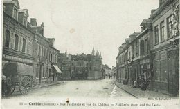 CPA - France - (80) Somme - Corbie - Rue Faidherbe Et Vue Du Château - Corbie