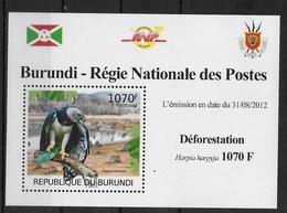 BURUNDI Epreuve De Luxe N°  1581  * *  Oiseaux Rapace Deforestation - Aigles & Rapaces Diurnes
