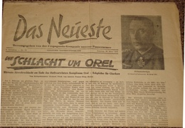 Das Neueste V. 28.03.43 Schlacht Um Orel Panzer-Propaganda-Kompanie - 1939-45