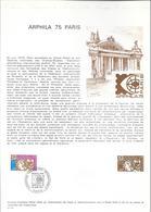 DOCUMENT OFFICIEL N° 01/74 ARPHILA 75 - COTE 2009 = 7.00 € - Documents Of Postal Services