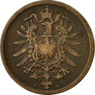 Monnaie, GERMANY - EMPIRE, Wilhelm I, 2 Pfennig, 1876, Frankfurt, TTB, Cuivre - [ 2] 1871-1918 : Imperio Alemán