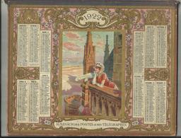 03 .ALLIER .  COUVERTURE D ALMANACH DES POSTES ET DES TELEGRAPHES 1922 . IMAGE DU MONT SAINT MICHEL - Calendars