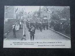 CP BELGIQUE (M1818) EDEGEM EDEGHEM (2 VUES) Jubelfeesten Der Grot - Fêtes Jubilaires De La Grotte N°12 - Edegem