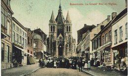 CPA - Belgique - Hainaut - Péruwelz - Bonsecours - La Grand'Rue Et L'Eglise - Péruwelz