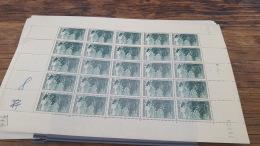 LOT 418818 TIMBRE DE FRANCE NEUF** LUXE FEUILLE N°474 VALEUR 50 EUROS BLOC - Feuilles Complètes