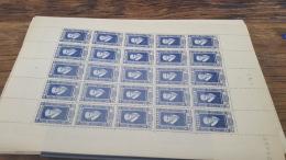 LOT 418829 TIMBRE DE FRANCE NEUF** LUXE FEUILLE N°589 VALEUR 55 EUROS BLOC - Feuilles Complètes