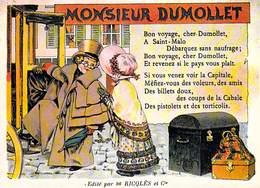 PUB Publicité NUGERON  C.C.4 VIEILLES CHANSONS FRANCAISES Monsieur DUMOLLET Ricqles  *PRIX FIXE - Advertising