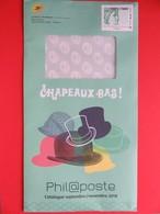 Philaposte - Enveloppe Du Catalogue De Novembre 2018 - La Poste - Type Sabine - Chapeaux - Phil@poste - Postwaardestukken