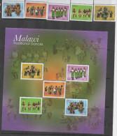 MALAWI ,2013,  MNH,COSTUMES, TRADITIONAL COSTUMES , DANCES,5v +SHEETLET, SCARCE ! - Dance