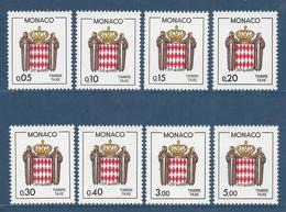 Monaco Taxe - YT N° 75 à 82 - Neuf Sans Charnière - 1985 - Strafport