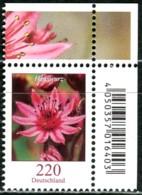 BRD - Mi 3414 ECKE REO - ** Postfrisch (D) - 220C   Blumen, Hauswurz - Ausgabe 11.10.2018 - Nuovi