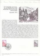 DOCUMENT OFFICIEL N° 13/74 CONGRES PHILATELIQUE - COTE 2009 = 8.00 € - Documents De La Poste