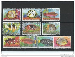 COCOS 1979/1980 - YT N° 40/49 NEUF SANS CHARNIERE ** (MNH) GOMME D'ORIGINE LUXE - Cocos (Keeling) Islands