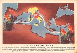 """0529 """"LE RAGIONI DELLA NOSTRA GUERRA - LE PORTE DI CASA"""" ANIMATA. CART  SPED 1942 - Autres"""
