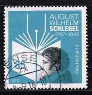 Bund 2017, Michel# 3332 O August Wilhelm Schlegel - [7] West-Duitsland