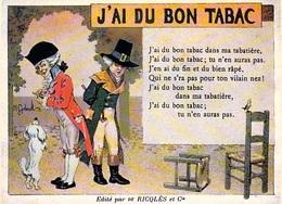 PUB Publicité NUGERON  C.C.2 VIEILLES CHANSONS FRANCAISES J'ai Du Bon Tabac - Ricqles  *PRIX FIXE - Advertising