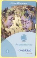 ITALY - COSTA - DIADEMA - CRUISE CABIN KEY CARD - CostaClub - Acquamarina - Hotel Keycards