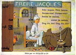 PUB Publicité NUGERON  C.C.5  VIEILLES CHANSONS FRANCAISES FRERE JACQUES- Ricqles  *PRIX FIXE - Advertising