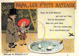 PUB Publicité NUGERON  C.C.6  VIEILLES CHANSONS FRANCAISES Papa Les P'tits Bateaux- Ricqles  *PRIX FIXE - Advertising