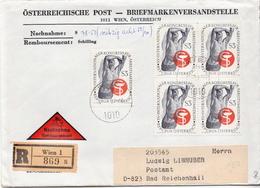 Postal History Cover: Austria R Cover With Medicine Stamps - Medicine