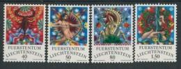 BL3-277 LIECHTENSTEIN 1978 YV 654-657 ZODIAC SIGNS, TIERKREISZEICHEN, DIERENRIEM. MNH, POSTFRIS, NEUF**. - Astrologie