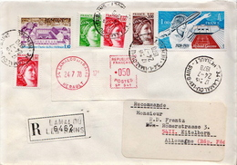 Postal History Cover: France R Cover With Tennis And Several Stamps - Tennis