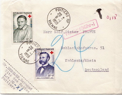 Postal History Cover: France Cover With Red Cross Stamps - Croix-Rouge
