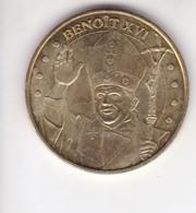 Jeton Médaille Monnaie De Paris MDp Benoit XVI Lourdes - Monnaie De Paris