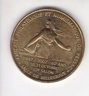Jeton Médaille Monnaie De Paris MDP Amicale Philatélique Et Numismatique De Pessac 32e Salon - 2007