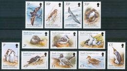 1999 Georgia Del Sud Fauna Uccelli Birds Vogel Oiseaux Pinguini Penguins Set MNH** B510 - South Georgia