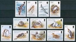 1999 Georgia Del Sud Uccelli Birds Vogel Oiseaux Pinguini Penguins Set MNH** B510 - Georgia Del Sud