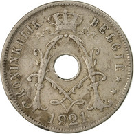 Monnaie, Belgique, 25 Centimes, 1921, B+, Copper-nickel, KM:69 - 1909-1934: Albert I