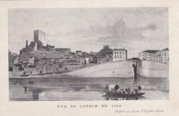 LUZECH -46 -  Vue De Luzech En 1849. - Luzech