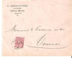 L. TP. N° 46 Càd HOLLAIN Du 4/8/1887 V/TOURNAI Notaire DESWATTINES - 1883 Leopold II.
