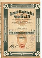 AUTOMOBILES VOIR HISTORIQUE Sté D'Exploitation Des Procédés J.M Ets TRENTELIVRES à LEVALLOIS PERRET VOIR SCANS - Industrie