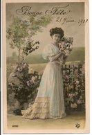 """L20H029 -Bonne Fête -  """"Portrait D'une Jeune Femme"""" - PC N°2020 - Holidays & Celebrations"""