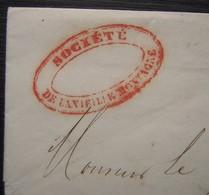 Société De La Vieille Montagne, Cachet Rouge Sur Une Lettre De Paris (1856) Oblitération Étoile  Pour La Ferté Gaucher - Postmark Collection (Covers)